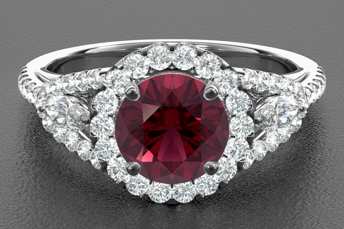 ruby render white gold